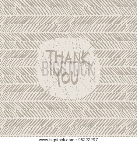 thank you hand draw card