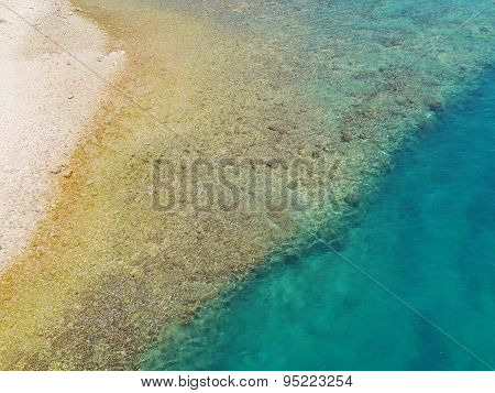 The colors of the sea and the beach