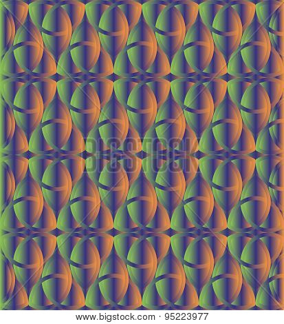 Green And Orange Celtic Knot Background