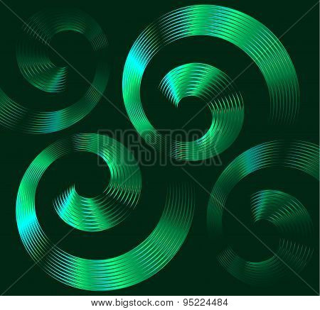 Green Spiral Elements With Space For Text