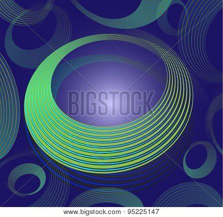 Spiral Circle Text Box