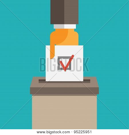 Voting Symbol Illustration