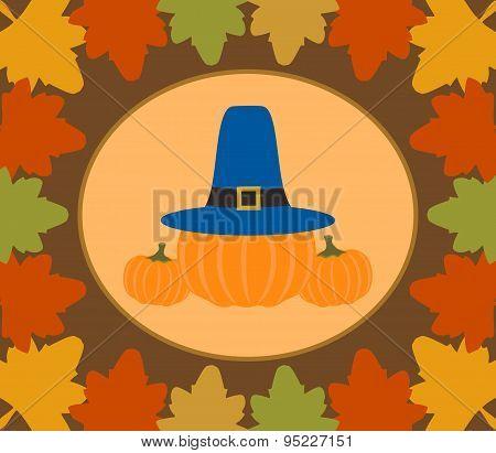 Autumn Thanksgiving  Day  Background With Pumpkin