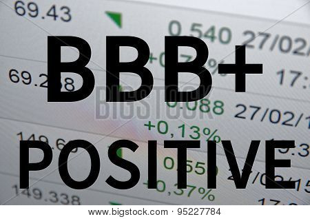 BBB+ positive