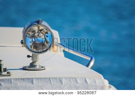 Boat Headlight Close Up