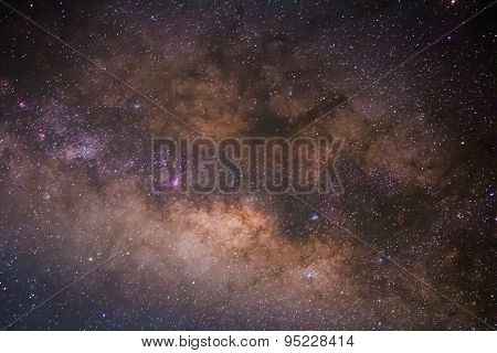 beautiful milkyway on a night sky