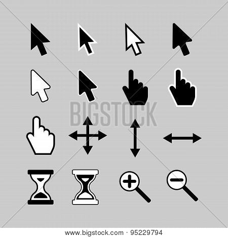 Cursors icons.