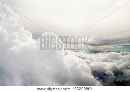 Clouds As Seen Through Window Of An Aircraft