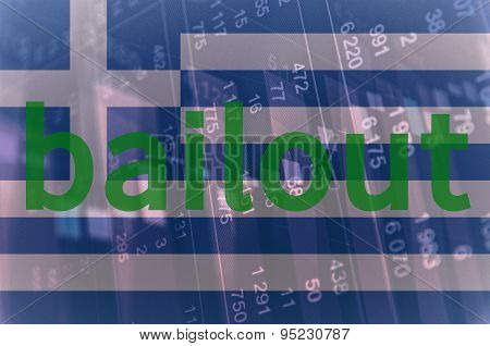 Flag of Greece and Inscription