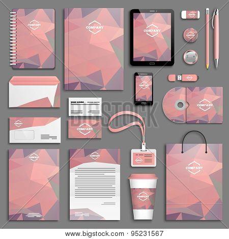 Corporate identity template set