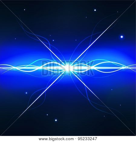Deep space pulsar - editable vector graphic