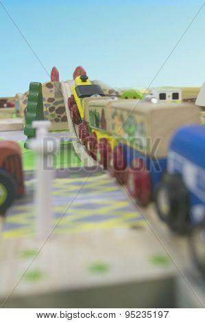 Toy Traffic Train Playground Children Child Play Concept