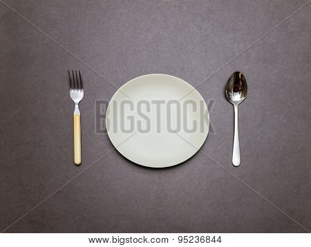 Spoon, dish, fork Of Equipment.
