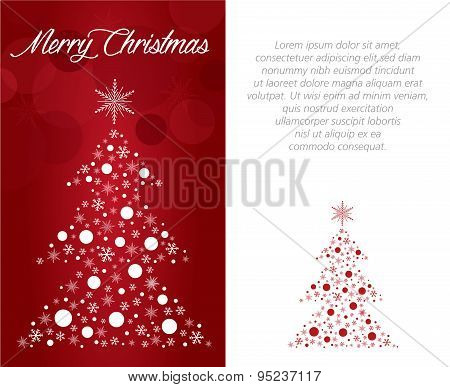 merry christmas greeting  card illustration