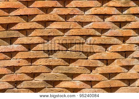 Brown Ston Wall Background.