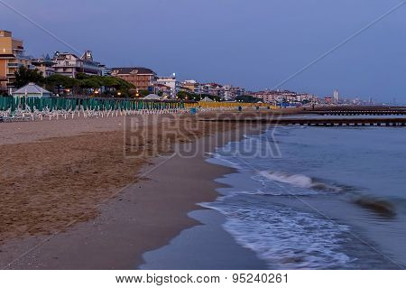 Lido di Jesolo, Adriatic sea, venetian Riviera