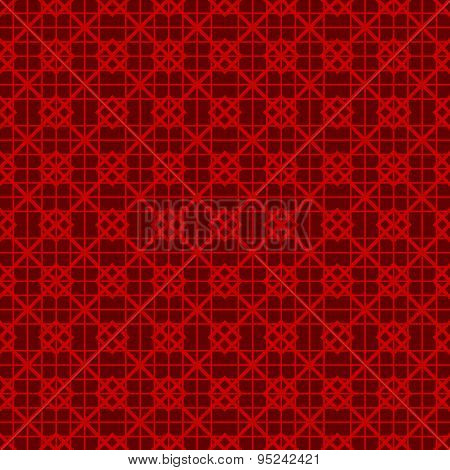 Seamless vintage Chinese window tracery square check line pattern background.