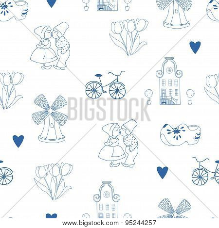 Seamless Pattern With Dutch Ornaments