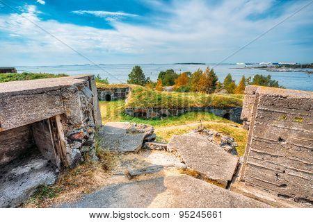 Historic Suomenlinna, Sveaborg maritime fortress In Helsinki, Fi
