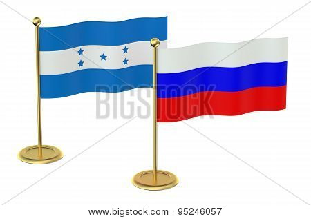 Meeting Russia With Honduras Concept