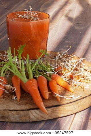carrot juice and fresh