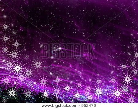 Christmas Violet Magic Background