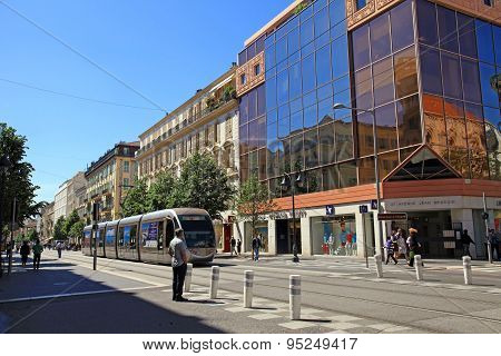 Avenue Jean Medecin, Main Shopping Street Of Nice, France