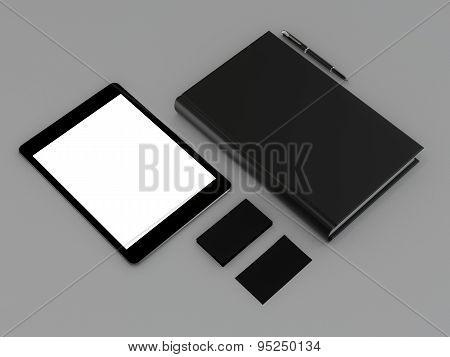 Book black on gray skin