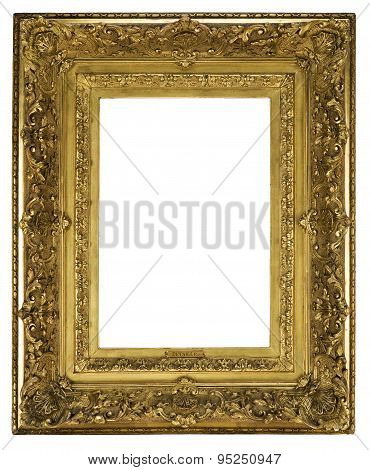 Frame Wooden Detailed Ornate And Gilded For Canvas Or Mirror