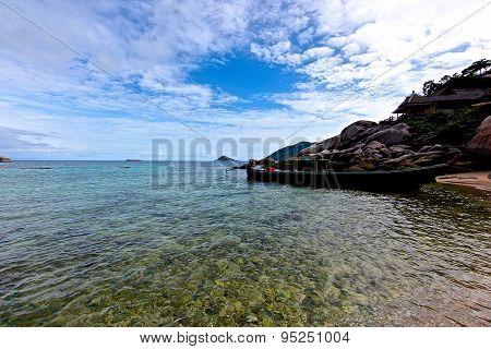 Scenic Views Of The Coastline Of Island Koh Tao