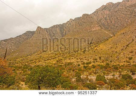 Rugged Mountains In A High Desert