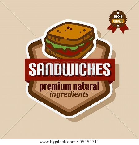 sandwiches label