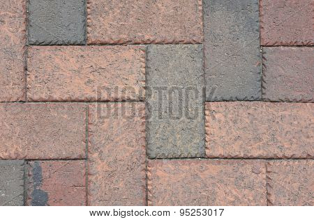 Old Grunge Brick Sidewalk