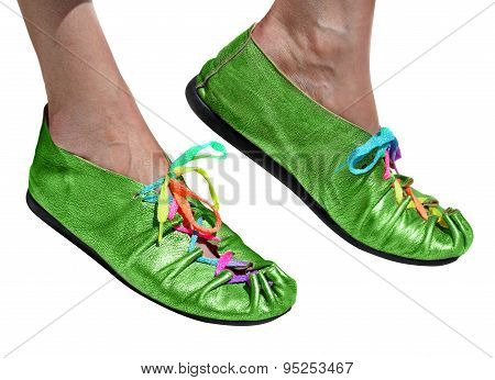 Ladies Fun Green Shoes
