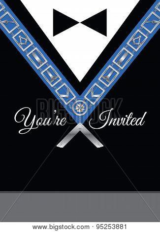 Masonic Invitation Vector Template