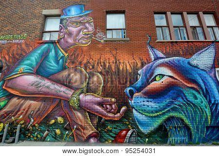 Street art Montréal tiger