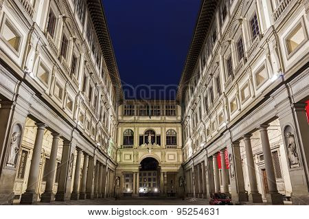 Uffizi Gallery In Florence In Italy