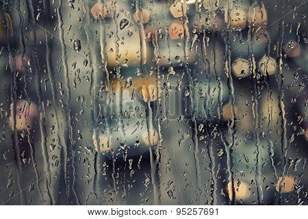 Rain Streaked Window