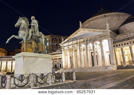 Basilica Reale San Francesco Di Paola In Naples, Italy