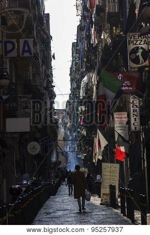 Street Life In Naples In Italy