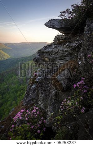 Linville Gorge Sunrise From The Chimneys 5