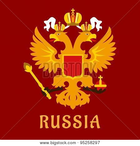Russian flat doubleheaded imperial eagle