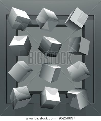 3D illustration of abstract geometric