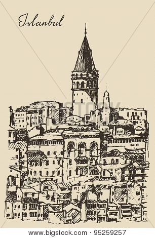 Istanbul, Turkey, City Architecture, Galata Tower