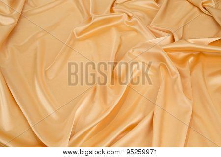 Golden silk drapery.