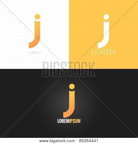 letter J logo design icon set background