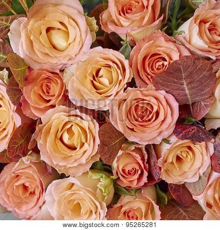 variety of rose flowers bouquet