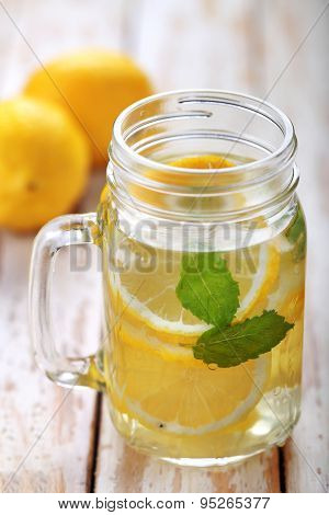 Lemon Infused Water For Refreshment