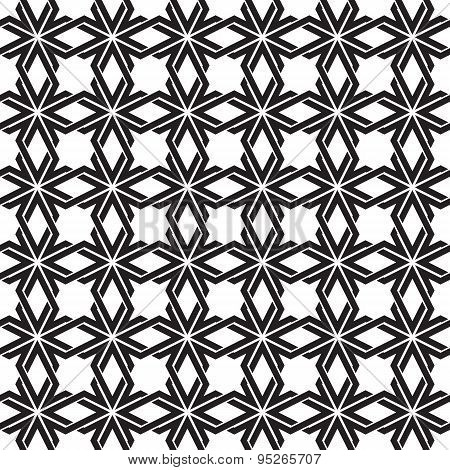 Seamless pattern  of intersecting geometric shapes