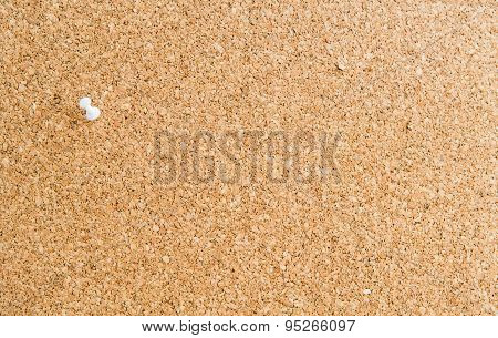 Cork Board With  White Push Pin